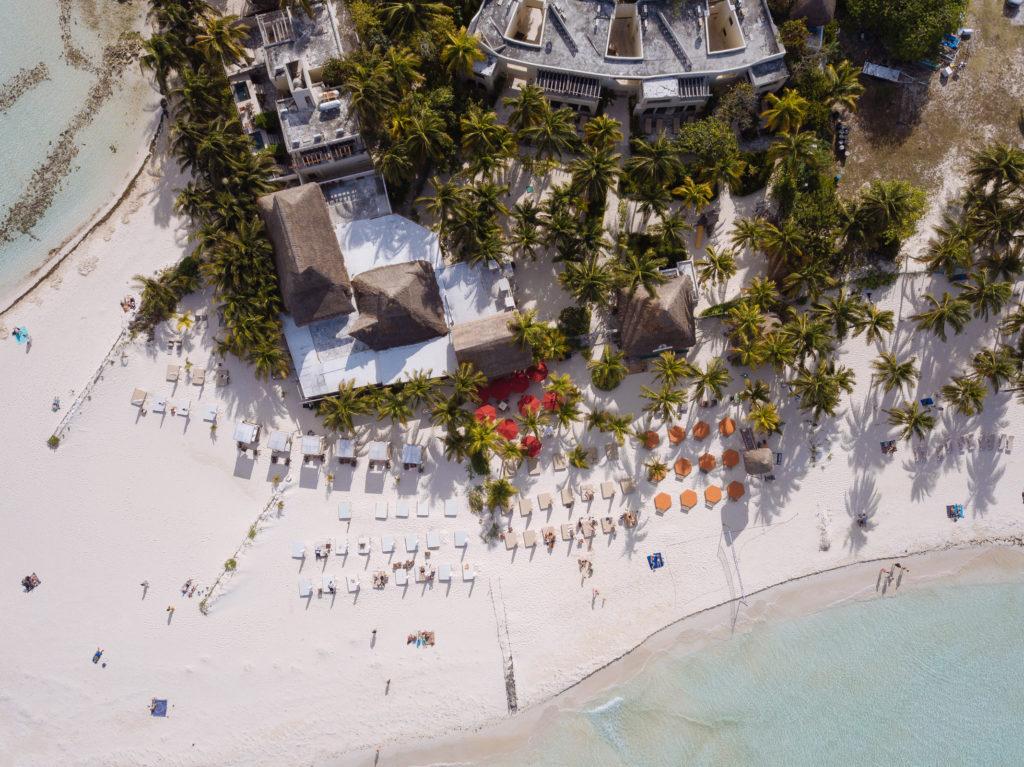 Na Balam und Playa Norte von oben herab