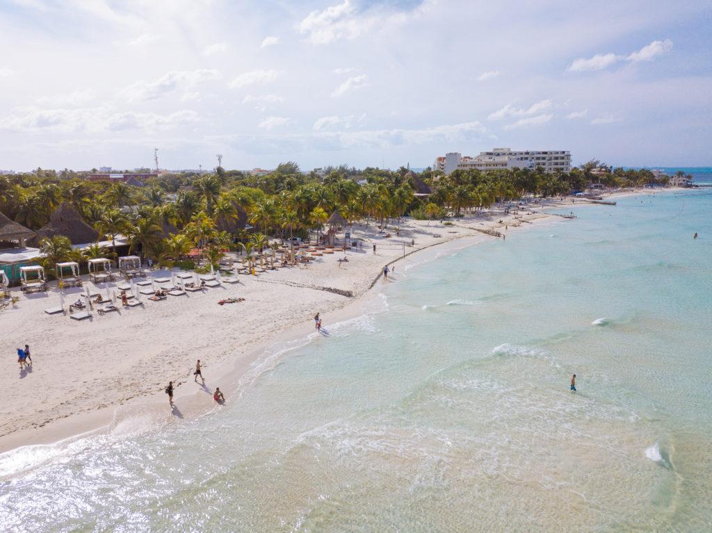 Playa Norte mit Blick Richtung Festland per Drohne