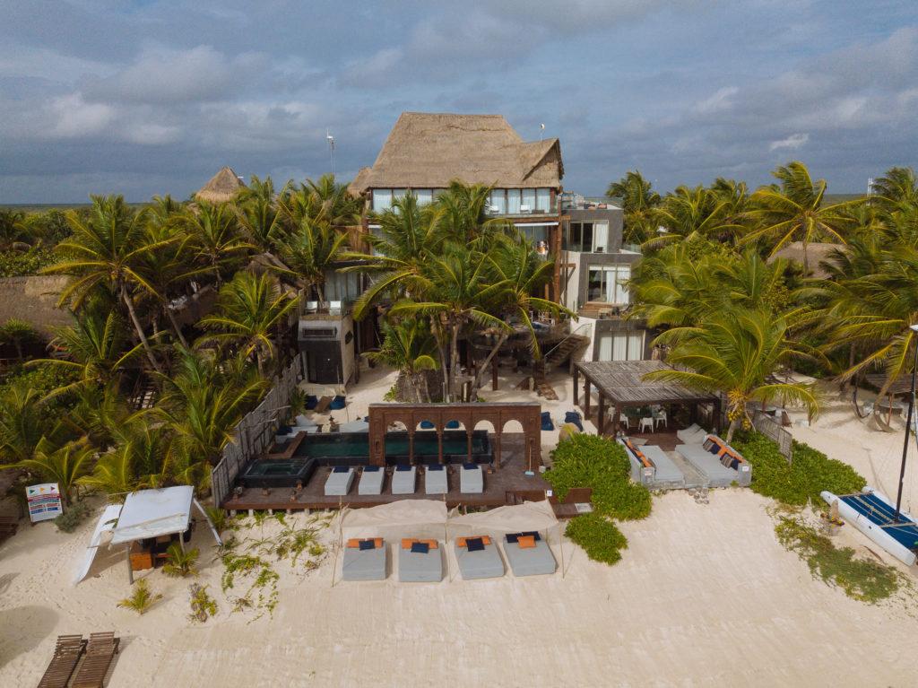 Nachbarhotel von Playa Xcanan in Tulum