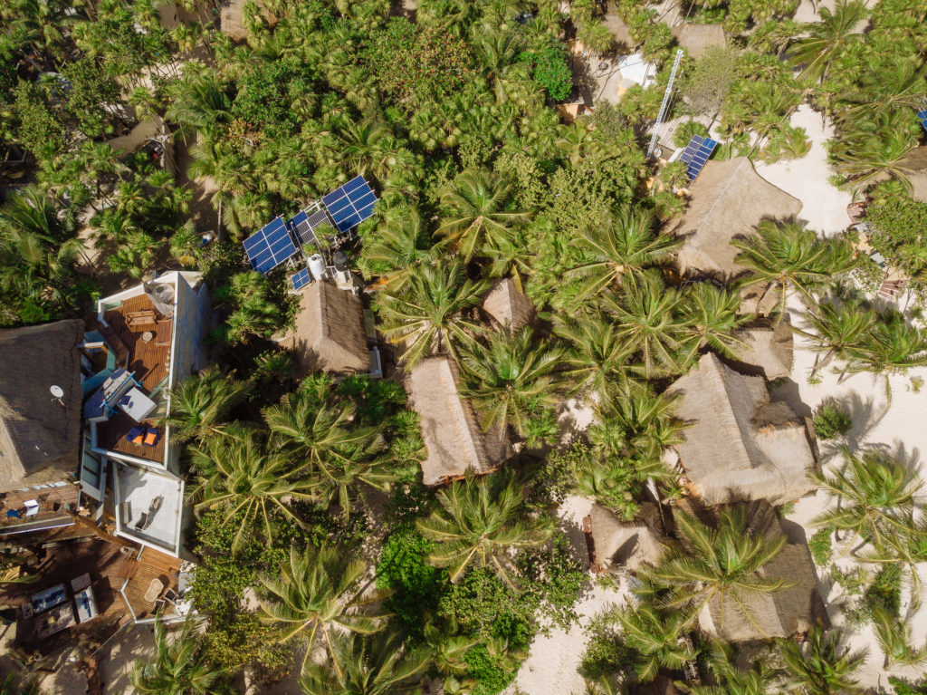 Playa Xcanan aus Vogelperspektive