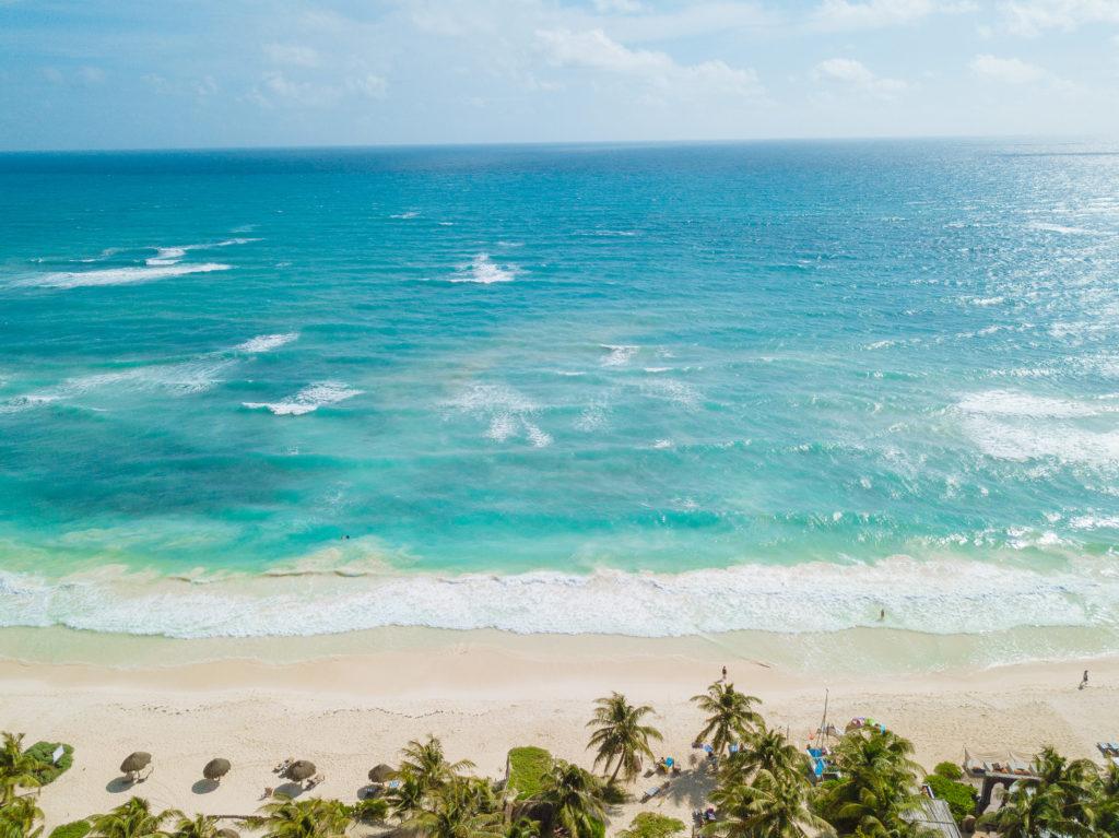 Karibisches Meer von weit oben