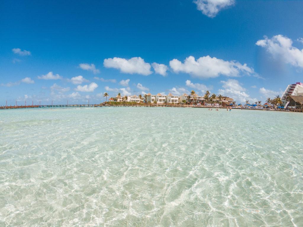 Blick Richtung Mia Reef Resort von der Playa Norte