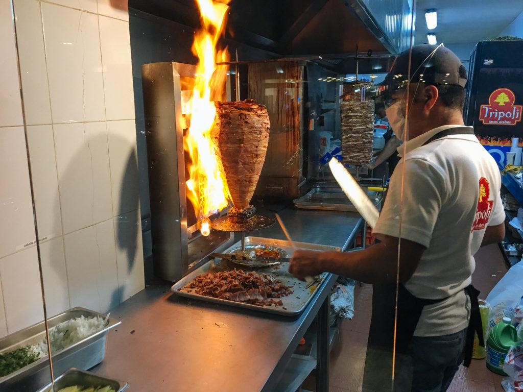 Carne al pastor in der Taquería Trípoli