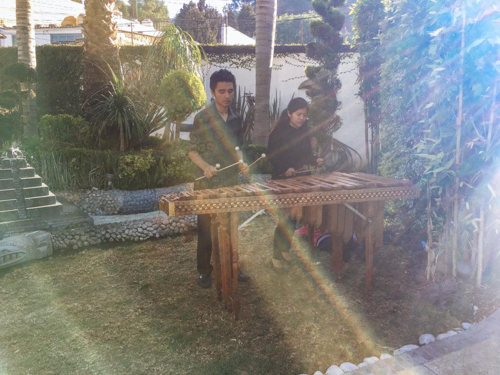 Marimba im Ciudad Sagrada