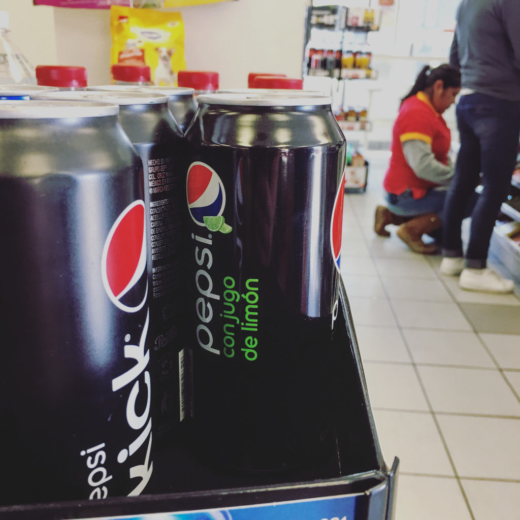 Pepsi mit Limettensaft
