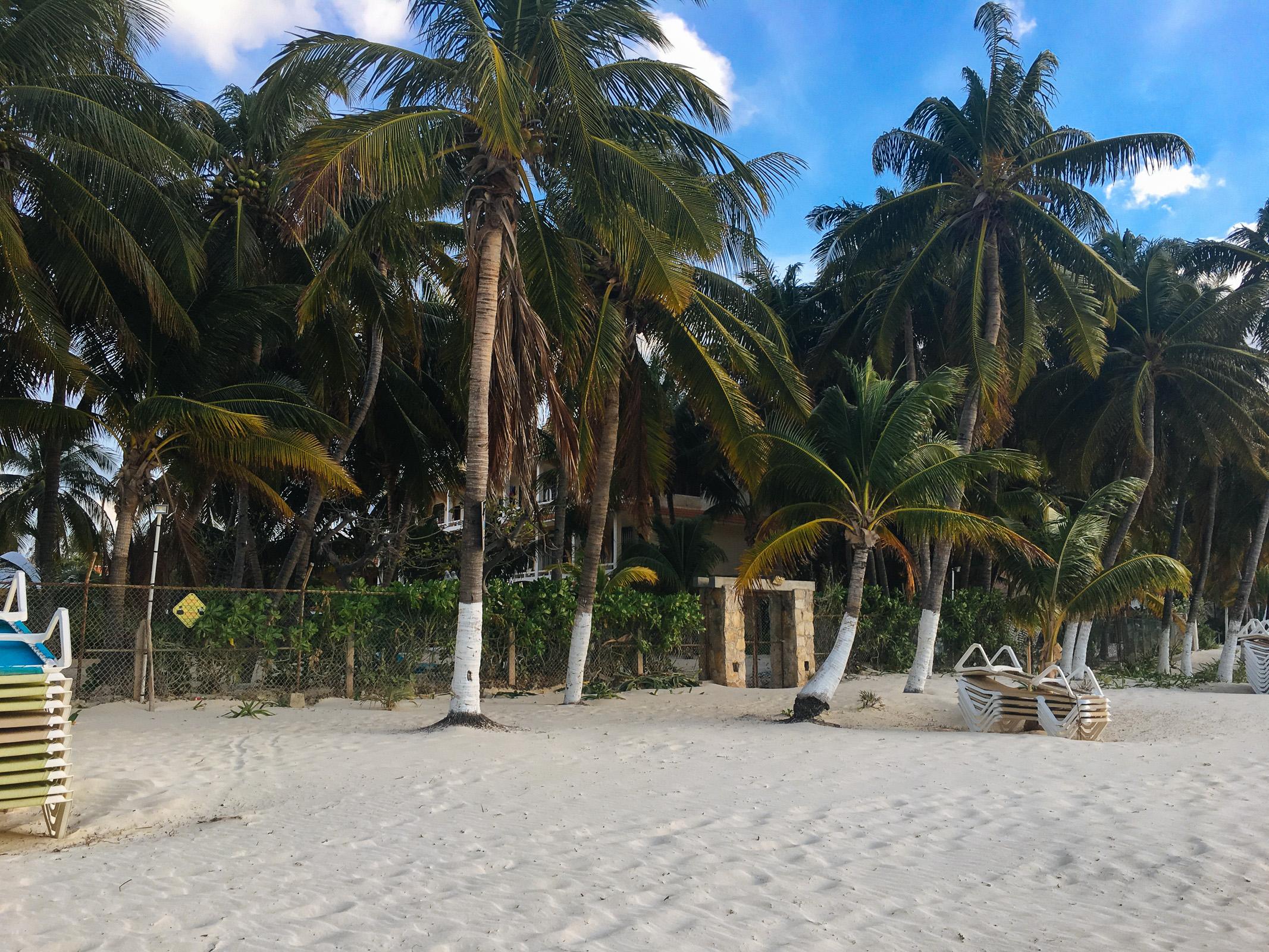 Tor zu Cabañas Maria del Mar vom Strand aus