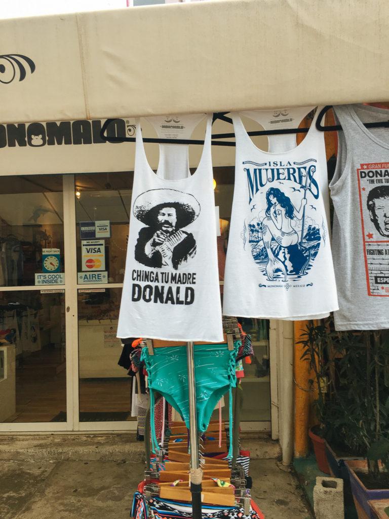 """Hemd """"Chinga tu madre Donald"""" auf Isla Mujeres"""