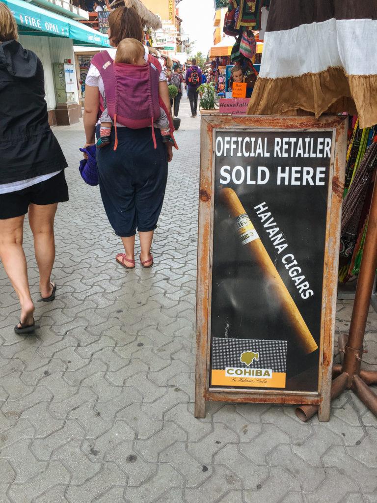 Werbung für kubanische Zigarren